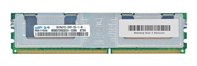 Arbeitspeicher 1x 1GB Samsung ECC FULLY BUFFERED DDR2 667MHz PC2-5300 FBDIMM | M395T2953EZ4-CE66