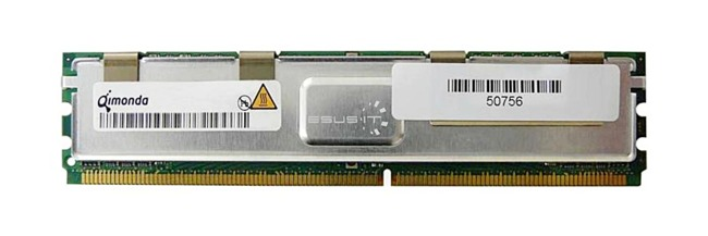 Arbeitspeicher 1x 2GB QIMONDA ECC FULLY BUFFERED DDR2 667MHz PC2-5300 FBDIMM | HYS72T256420EFA